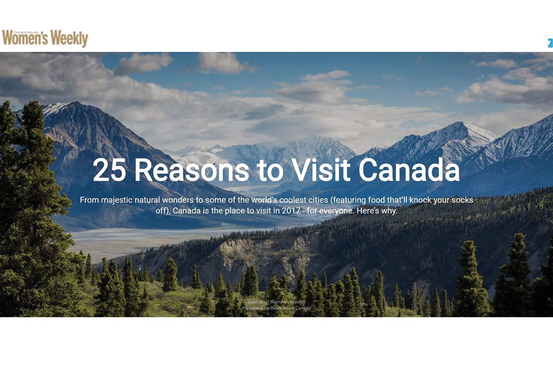 Australia Women's Weekly 25 Reasons to Visit Canada